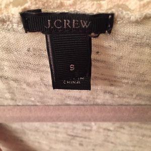 J. Crew Tops - SOLD PLATOS J. Crew Grey Heathered Linen & Cream